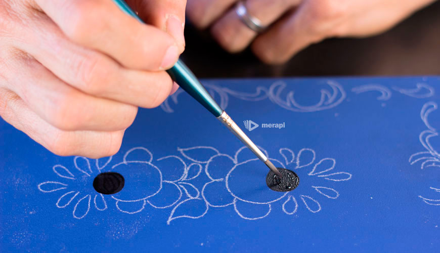Pintura Bauer - Fazendo o miolo da rosa
