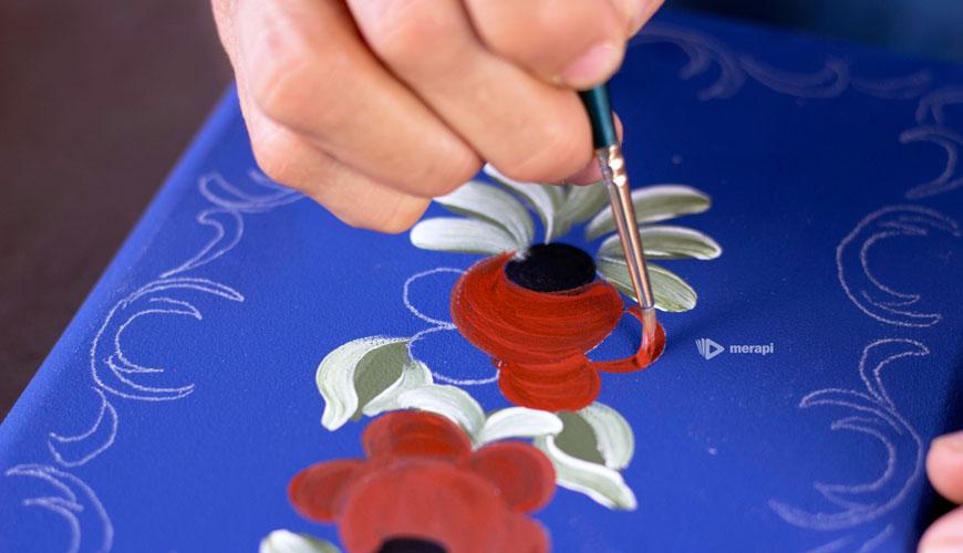 Pintura Bauer - Pintando a rosa